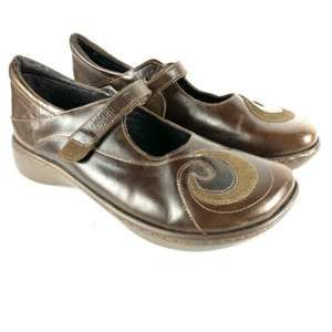 Naot Leather Sea Swirl Mary Jane Comfort Shoes